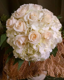 large roses and hydrangea bouquet min - Garden Rose And Hydrangea Bouquet